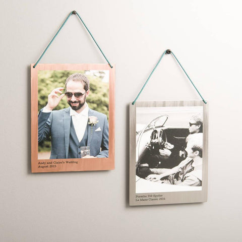 Personalised Hanging Copper And Steel Photo Print