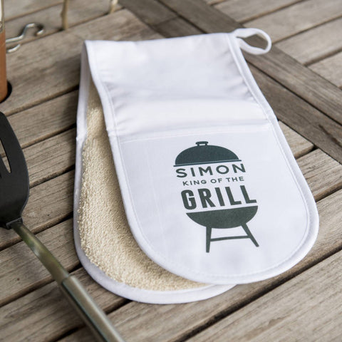 Personalised 'King Of The Grill' Oven Gloves