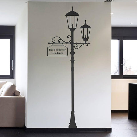 Personalised London Lamp Post Wall Sticker - Oakdene Designs
