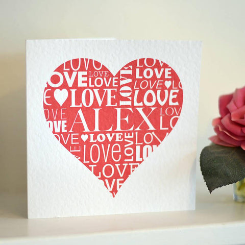 Personalised Love Heart Card