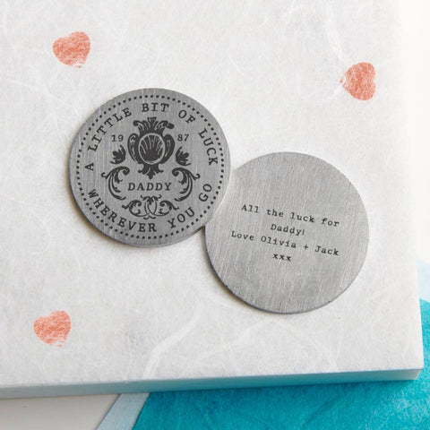 Personalised Lucky Pocket Coin Keepsake