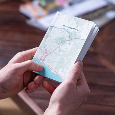 Personalised Map Location Pocket Notebook