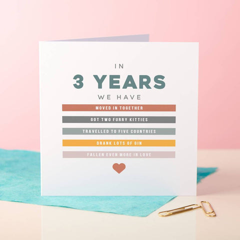 Personalised Memories Anniversary Card