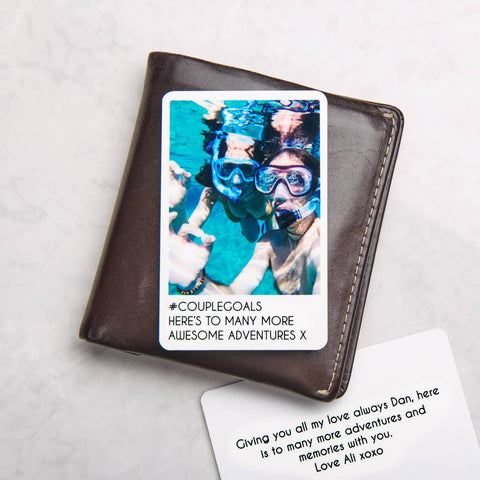 Personalised Metal Photo Wallet Card