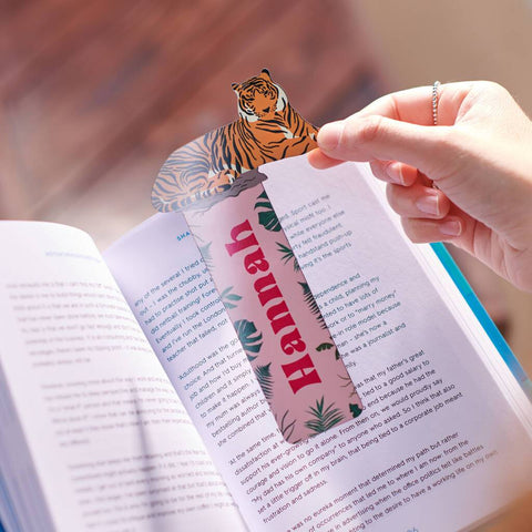 Personalised Metal Tiger Bookmark