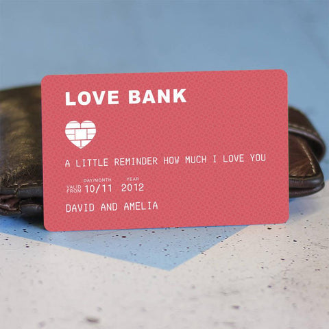 Personalised Metal Wallet Note Card Debit Card