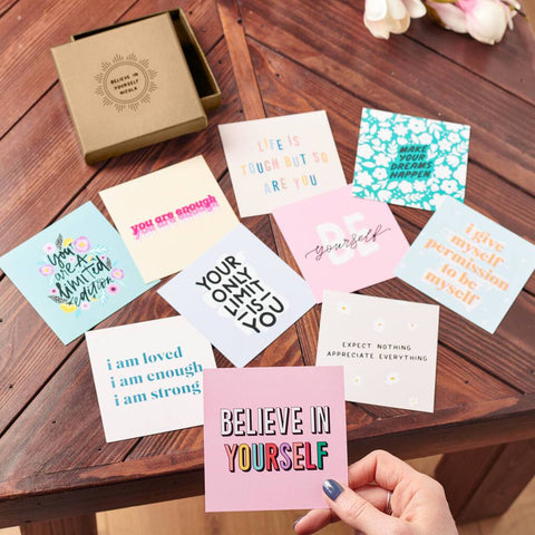 Personalised Mini Box Of Positive Mantra Prints
