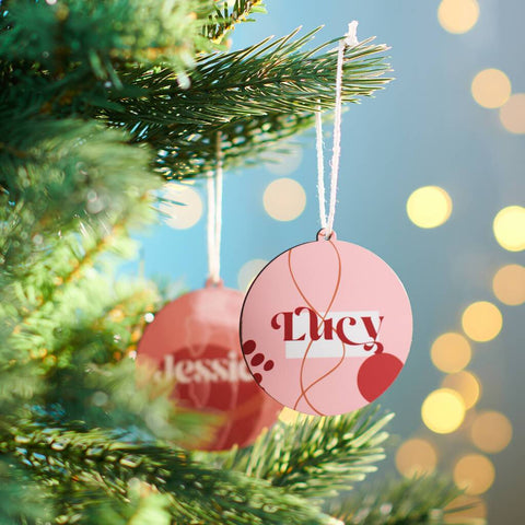 Personalised Minimalist Christmas Bauble