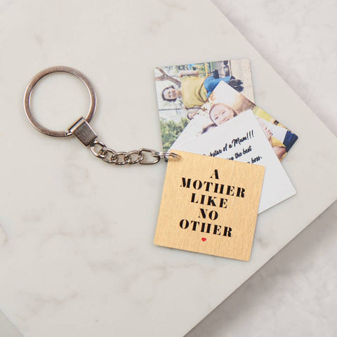 Personalised Mother Like No Other Book Keyring