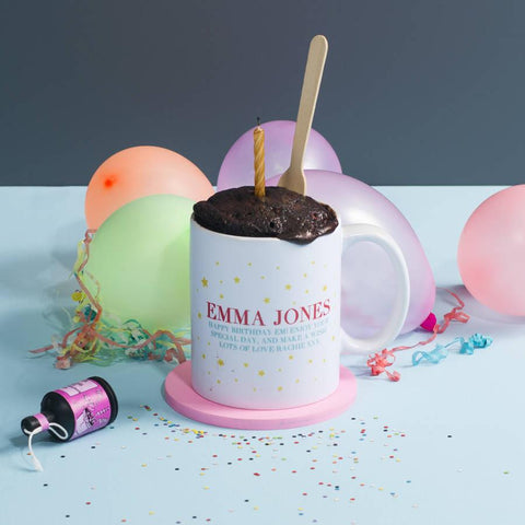 Personalised Mug Cake Birthday Gift Set