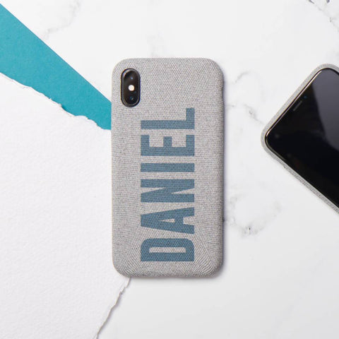 Personalised Name Fabric iPhone Case