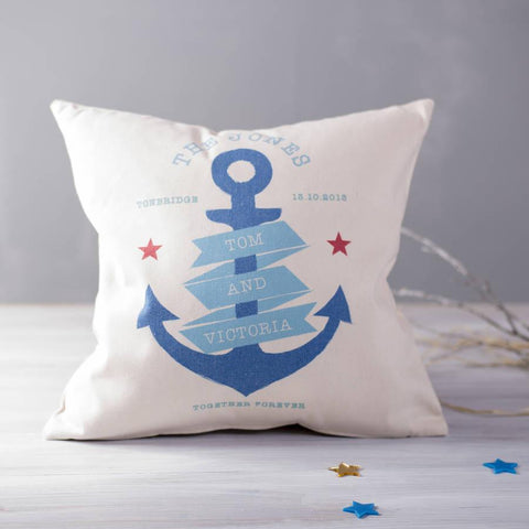 Personalised Nautical Couples Cushion