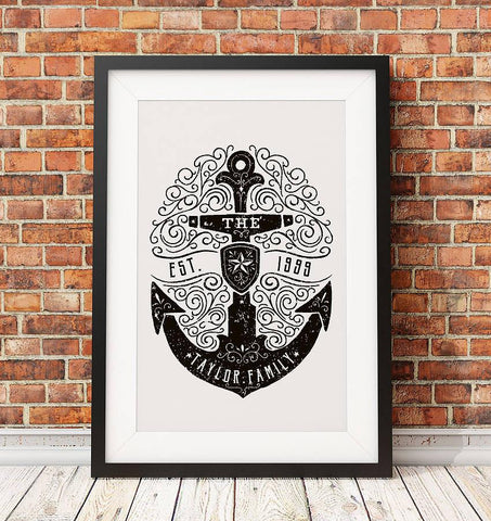 Personalised Nautical Family Print - Oakdene Designs - 1