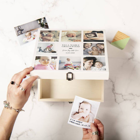 Personalised New Baby Keepsake Memory Box