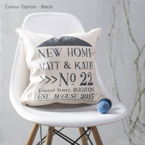 New Home Cushion Personalised For New Home Owners