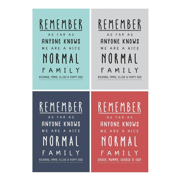 Original personalised nice normal family print 2 grande