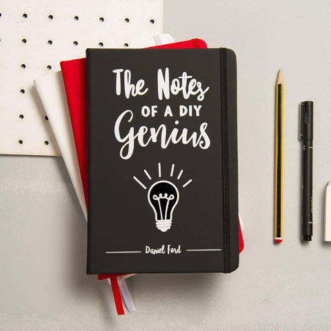 Personalised Notes Of A Genius Notebook - Oakdene Designs - 1