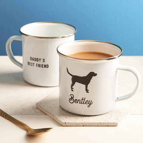 Personalised Pet Enamel Mug