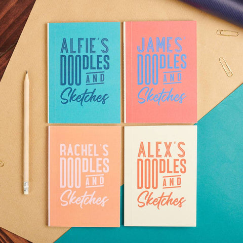 Personalised Pocket Doodles And Sketches Notebook