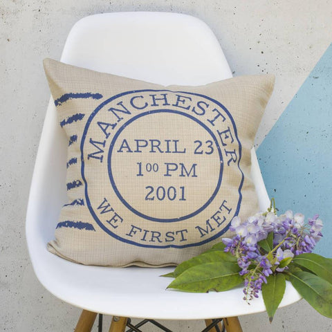 Personalised Postage Stamp Cushion - Oakdene Designs - 1