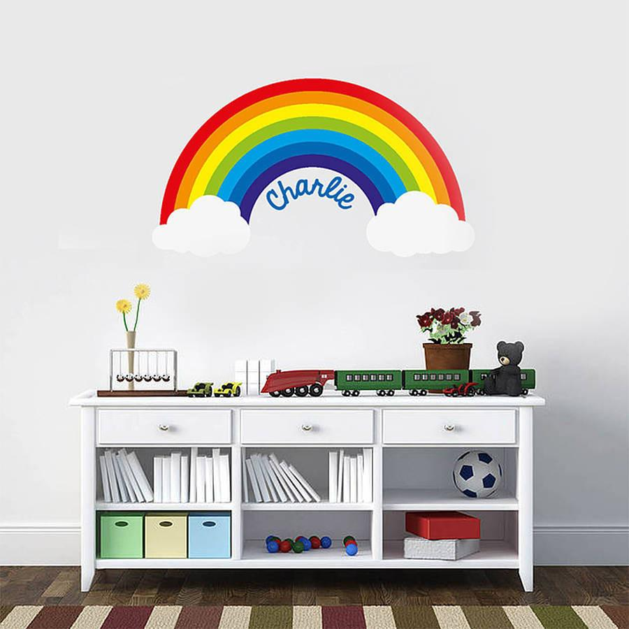 Rainbow wall sticker gallery home wall decoration ideas personalised rainbow wall sticker wall stickers wall decals personalised rainbow wall sticker oakdene designs 1 amipublicfo amipublicfo Images