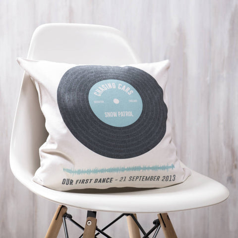Personalised Record Cushion