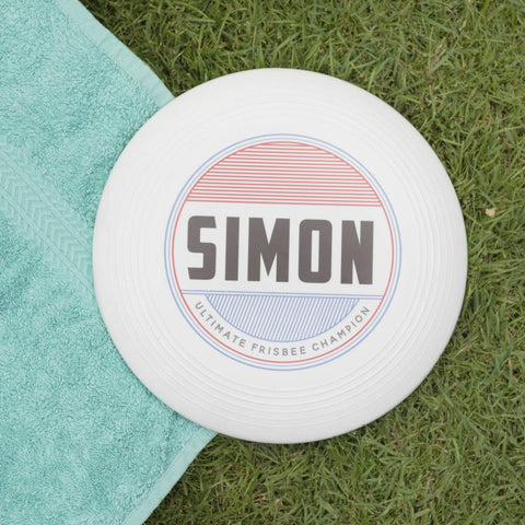 Personalised Retro Name Frisbee