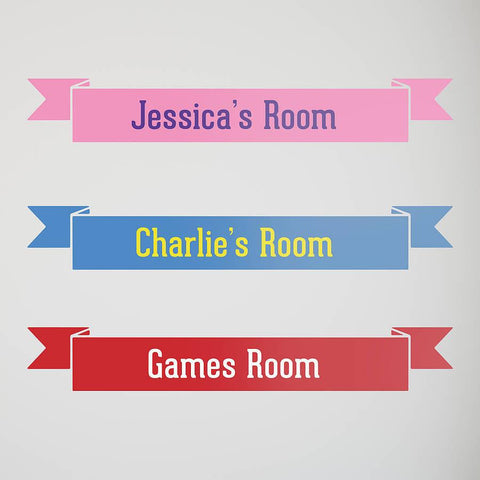 Personalised Room Name Wall Sticker - Oakdene Designs