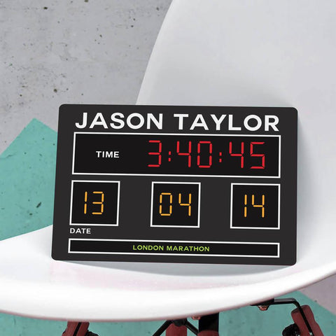 Personalised Metal Scoreboard Plaque