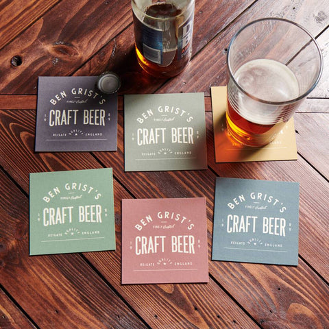 Personalised Set Of Six Beer Mats