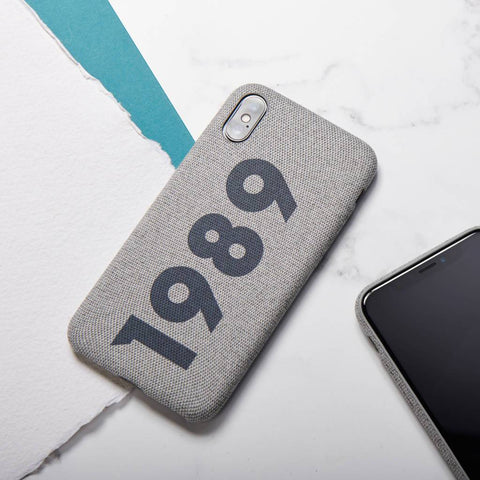 Personalised Significant Date Fabric iPhone Case