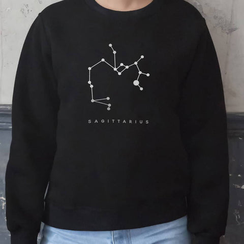 Personalised Silver Foiled Star Sign Jumper