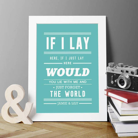 Personalised Snow Patrol Print - Oakdene Designs - 1