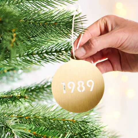Personalised Solid Brass Special Date Christmas Bauble