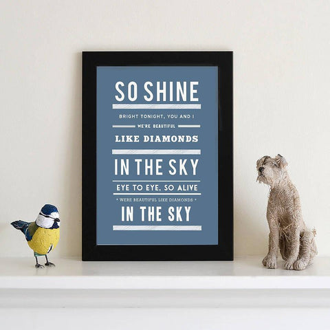 Personalised Song Lyric Print