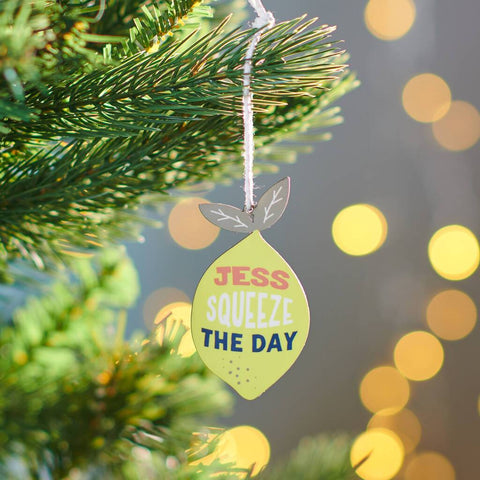 Personalised Squeeze The Day Lemon Decoration
