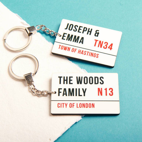 Personalised Street Sign Keyring