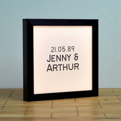 Personalised Stylish Vintage Light Box - Oakdene Designs - 1