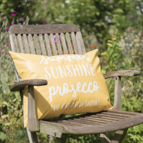 Personalised Summer Favourites Outdoor Cushion