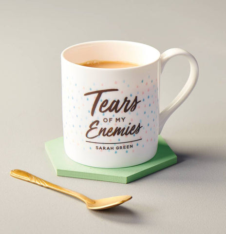 Personalised Tears Of My Enemies Bone China Mug