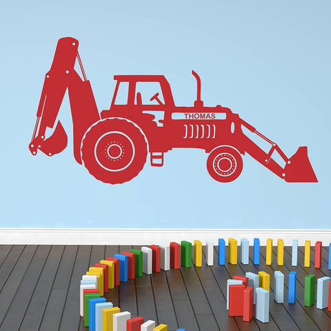 Personalised Tractor Digger Wall Sticker - Oakdene Designs - 1
