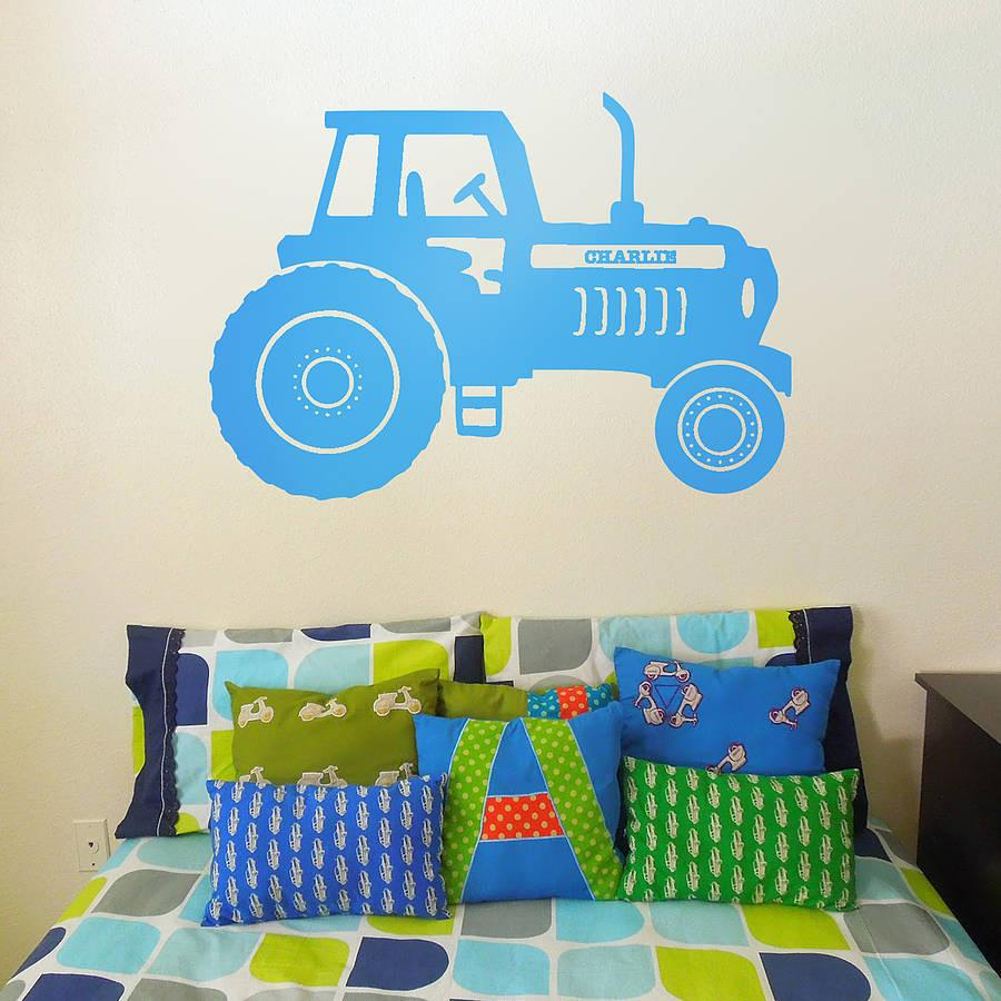 Personalised tractor vinyl wall sticker personalised tractor vinyl wall sticker oakdene designs amipublicfo Images