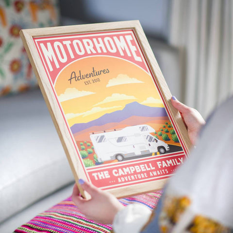 Personalised Travel Motorhome And Campervan Print