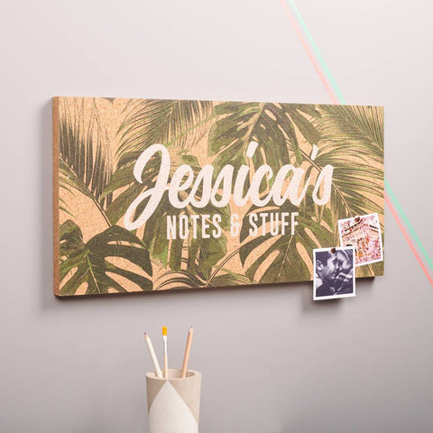 Personalised Tropical Cork Pin Board