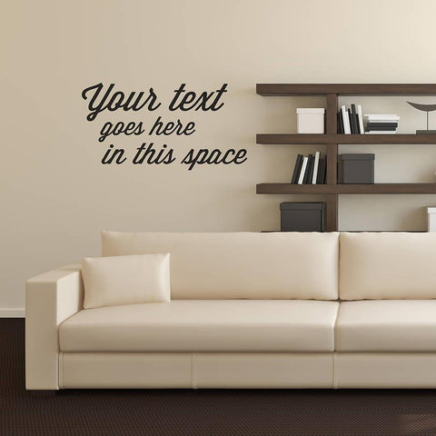 Personalised Quote Typographical Wall Sticker - Oakdene Designs - 1