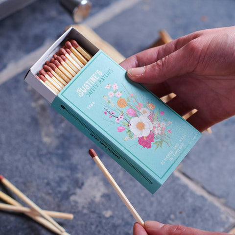 Personalised Vintage Style Floral Matchbox And Matches