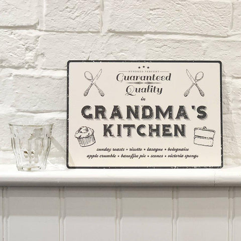 Personalised Vintage Style Kitchen Sign