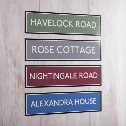 Personalised Vintage Style London Transport Sign