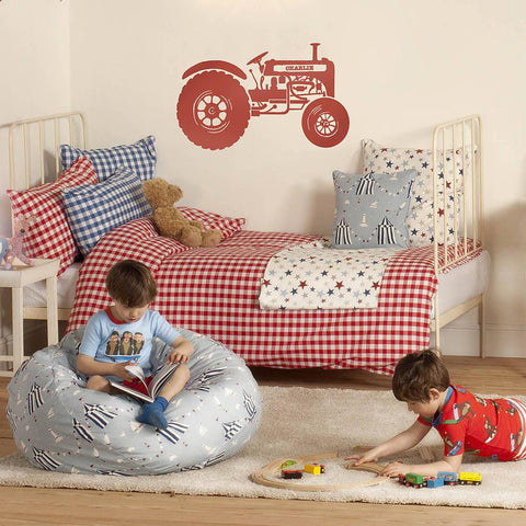 Personalised Children's Tractor Wall Sticker - Oakdene Designs