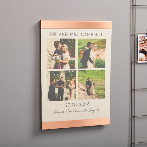 Personalised Wedding Copper Canvas Photo Print
